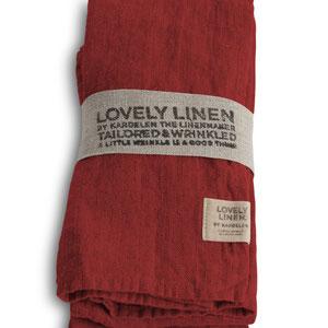 Lovely Linen: Napkins Real Red