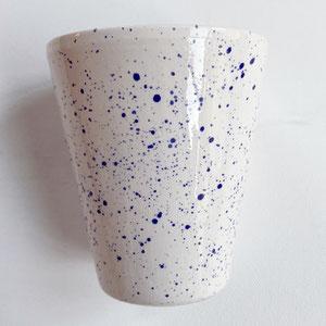 Terra Cuita: Hand Made Ceramic Cup White & Blue