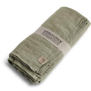 Lovely Linen Linen Table Cloth Avocado