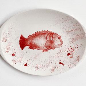 Terra Cuita Handpainted Serving plates