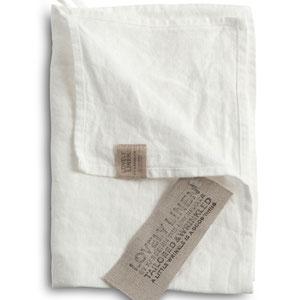 Lovely Linen: Towels Off White