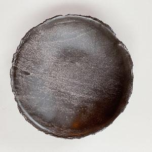 Terra Cuita Deep Plate Rough Nearly Black