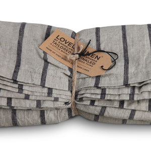 Lovely Linen: Table cloth, Striped Black