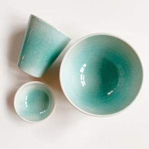 Terra Cuita: Hand Made Ceramic Cup Turquoise