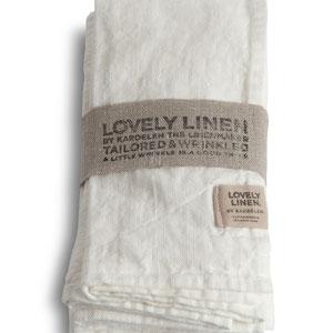 Lovely Linen: Napkins Off White