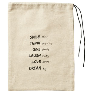 Affari of Sweden Gift bag in textil with print