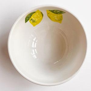 Terra Cuita Big Bowl Ceramic Handpainted Lemon