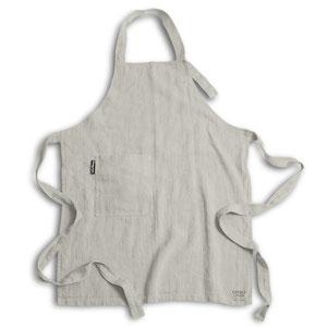 Lovely Linen, Linen apron light grey