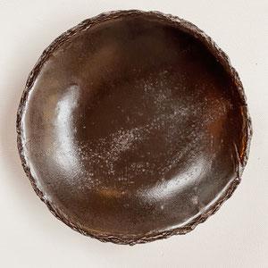 Terra Cuita Small deep plate Nearly black