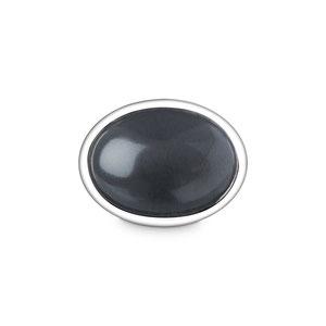 Bild: Pluto Manschettenknopf zur Hochzeit mit ovalem Hämatit in einer Fassung aus reinem Silber
