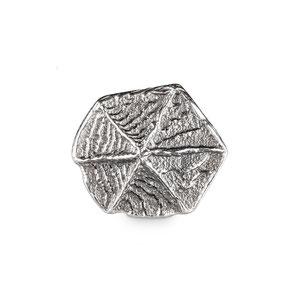 Bild: Bräutigam Manschettenknöpfe aus edlem Silberguss in sechseckiger Form