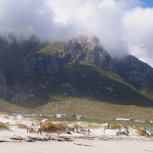 Betty's Bay. The mountains always in the back.
