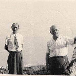 Walter Furrer mit seinem Vater Adolf Furrer in Brione