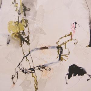 """""""Portrait"""", 70 x 90, ink, pigment colors, canvas"""