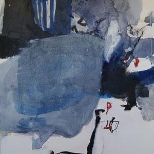 """""""Hafen von Helsinki"""", 160 x 100, Pigment, Papier, Tusche, Leinwand"""
