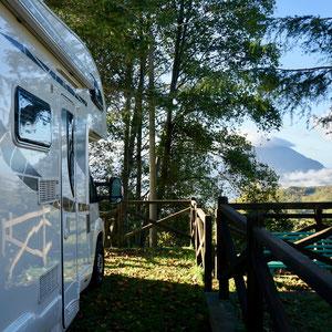 Stellplatz am Lago Sirino