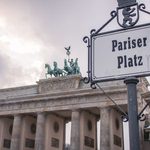 Das Brandenburgertor am Pariser Platz in Berlin