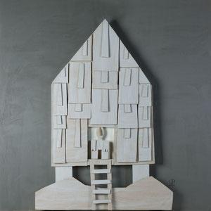 Forgotten summers 3 - Carton polyester - 120x120 cm