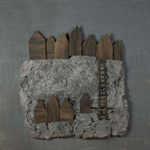 Forgotten summers 12 - Carton polyester - 130x130 cm