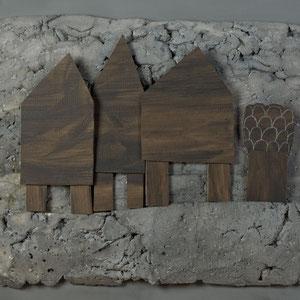 Forgotten summers 10 - Carton polyester - 120x120 cm