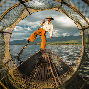 Fischer im Boot Foto: Anne Berlin