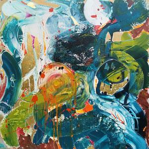 44, 2020, acrylic on canvas, 100x100 cm, alexandra benesch