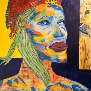 """silent warrior"", 2014, 100x80 cm, acrylic on canvas, a. benesch"
