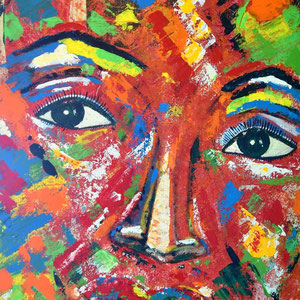 """desertflower"", 2014,  100x70 cm,  acrylic on canvas, alexandra benesch"