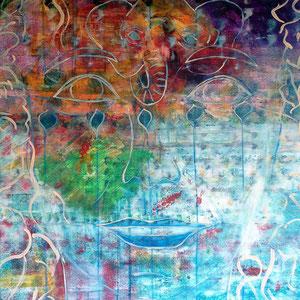 innocence, 2019, acrylic on canvas, 100x70 cm, alexandra benesch,