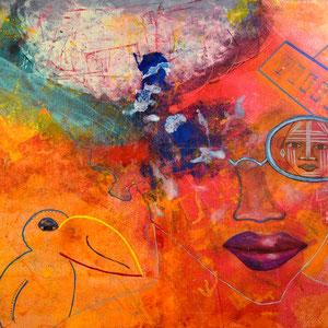 """""""Mr. Hornbills secret"""", 2014, acrylic on canvas, alexandra benesch"""