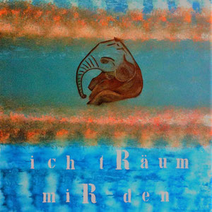 """ I dream my day into the blue.."", 2010,  120x100 cm, acrylic on canvas, alexandra benesch"