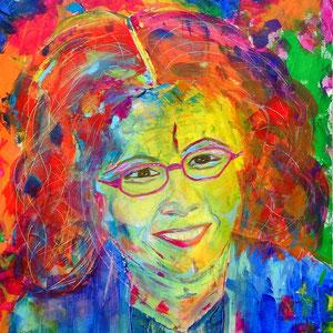 """little sister"", 2014,  60x60 cm, acrylic on canvas, alexandra benesch"