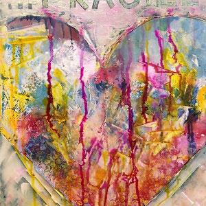 fragile, 2020, acrylic on canvas, 50x50 cm, alexandra benesch