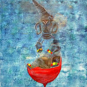 """elephant juhu"", 2010, 50x60 cm, acrylic on canvas, alexandra benesch"