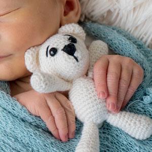 Babyfoto Pfaffenhofen an der Ilm Wrap blau