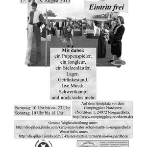 """Plakat vom """"2. kleiner Mittelaltermarkt"""" (schwarz-weiß)"""