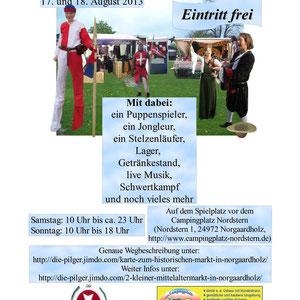 """Plakat vom """"2. kleiner Mittelaltermarkt"""" (farbig)"""