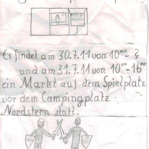 """Plakat vom """"1. kleiner Mittelaltermarkt in Norgaardholz"""""""