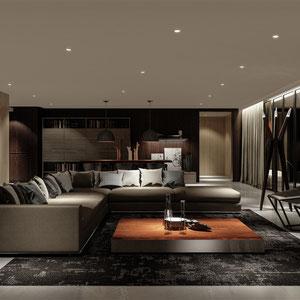 Projekt nowoczesnego salonu w Rzeszowie