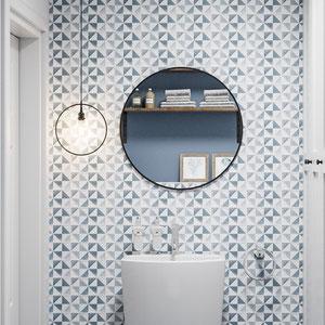 Projekt łazienki w skandynawskim domu
