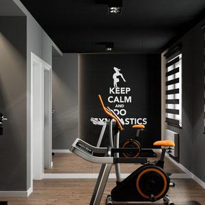 Projekt wnętrza domowej siłowni