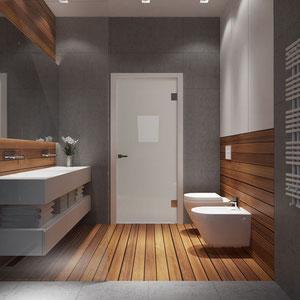 Projekt wnętrze łazienki na poddaszu