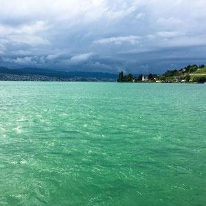 Zürichsee vor einem Sturm (I-Phone 6)