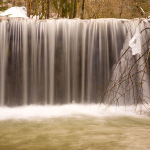 Wasserfall in Prevalje, Slowenien