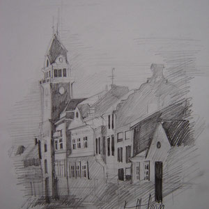 Zeichnung Leibnitz Rathaus