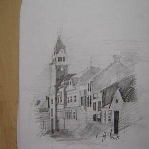 Zeichnung Leibnit Rathaus