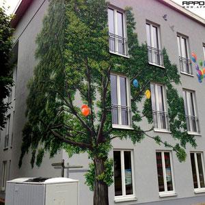 Wandmalerei Durch Kunst am Bau die künstlerische Attraktivität ihrer Immobilie aufwerten
