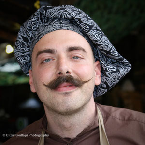 Roko the chef. Stables Market, August 27th 2015