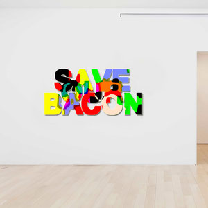 God save the queen...and the bacon! - Wall Installation -