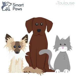 Haustierillustration für Smart Paws Tierkrankenversicherung